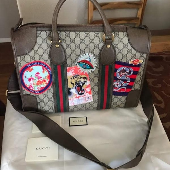 a01e854ee21438 Gucci Bags | Courrier Soft Gg Supreme Duffle Bag | Poshmark